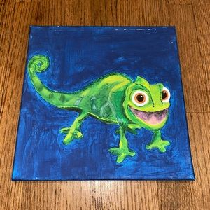 Lizard canvas blue and green